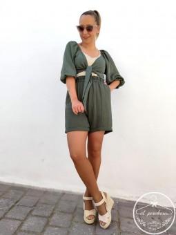 Conjunto lino top + short